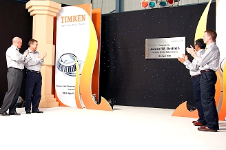 Timken:James W. Griffith , President & CEO , The Timken Company, Gordon W. Robinson , Managing Director - Timken India, Sanjay Sinha , General Manager - Chennai  Plant, Douglas Smith, Director - Manufacturing Asia