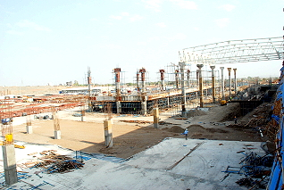 construction: Volkswagen plant in the Chakan industrial park near Pune