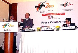 IMTEX 2009 Press Conference - Mr. Shailesh Sheth, N.K. Dhand, V. Anbu