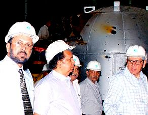 Shri G Madhavan Nair was taken around all the three Plants of the Corporation