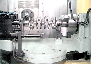 MQL Crankshaft under machining